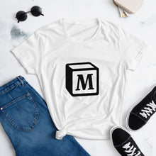 Load image into Gallery viewer, 'M' Block Monogram Short-Sleeve Women's Fashion Fit T-Shirt