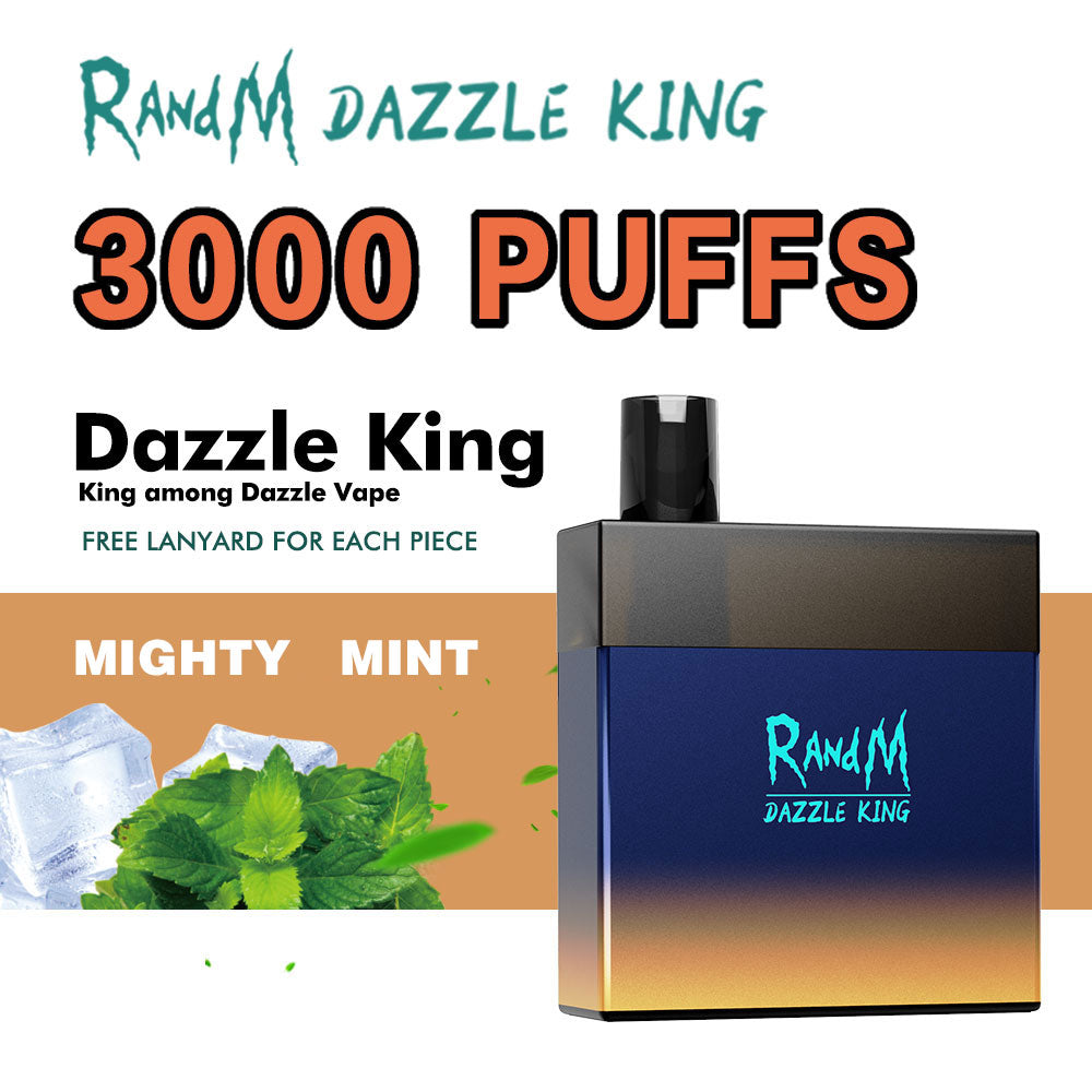 RandM Dazzle King Led Light Glowing Disposable Vape Pod Device Wholesale(3000 Puffs)