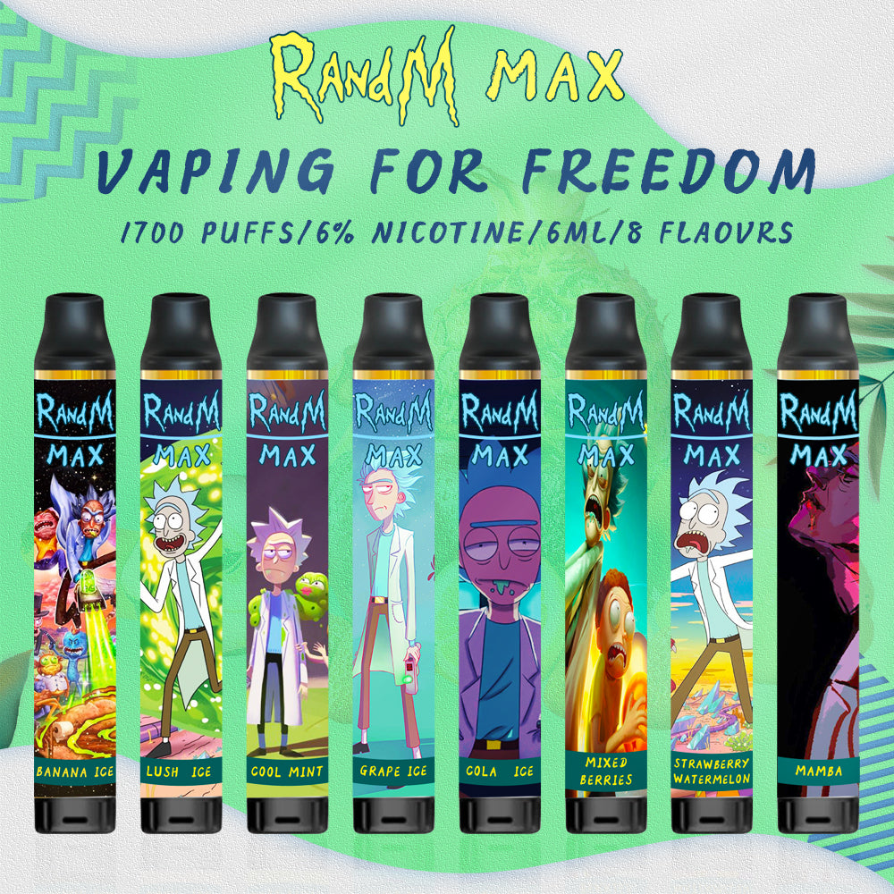 RandM Max R&M Xtra Rick and Morty Style Disposable Vape Pod Device Wholesale(1700 Puffs)