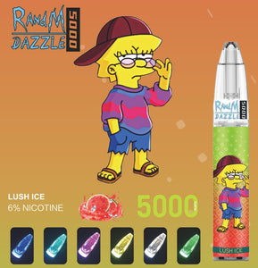 RandM Dazzle 5000 RGB Light Glowing Disposable Vape Pod Device Wholesale(5000 Puffs)
