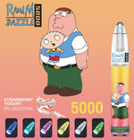 Load image into Gallery viewer, RandM Dazzle 5000 RGB Light Glowing Disposable Vape Pod Device Wholesale(5000 Puffs)