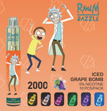 Load image into Gallery viewer, RandM Dazzle RGB Light Glowing Disposable Vape Pod Device Wholesale(2000 Puffs)