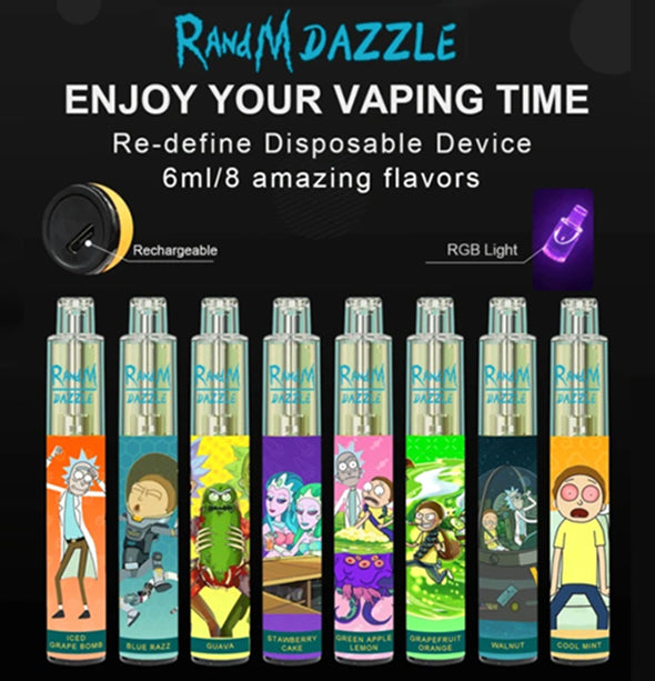 RandM Dazzle RGB Light Glowing Disposable Vape Pod Device Wholesale(2000 Puffs)