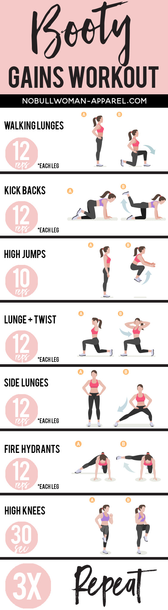 Booty Gains - Printable Workout