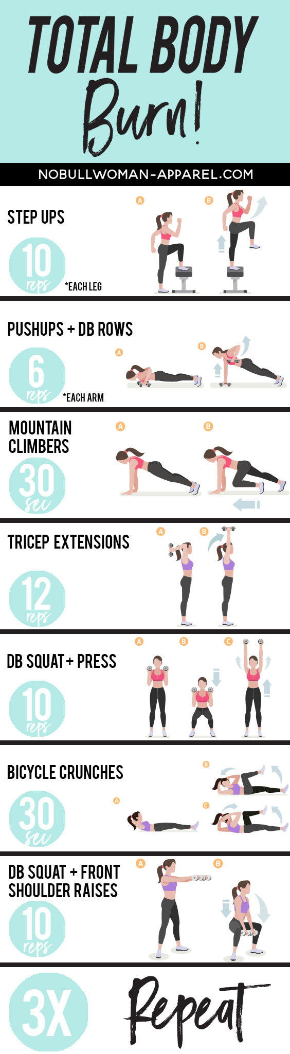 Total Body Burn - Printable Workout