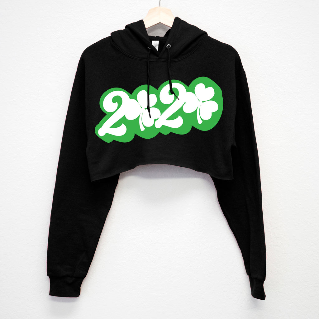 2020 St. Patrick's Day Cropped Hoodie