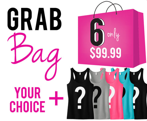"Grab Bag ""6"" Workout Tank Tops"