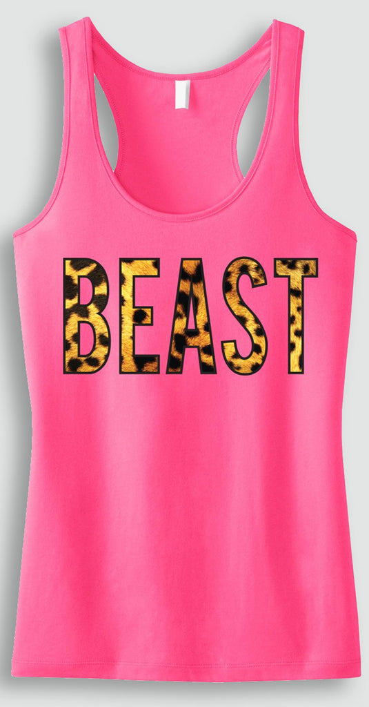LAST CHANCE SALE!!! BEAST Leopard Pink Workout Tank Top