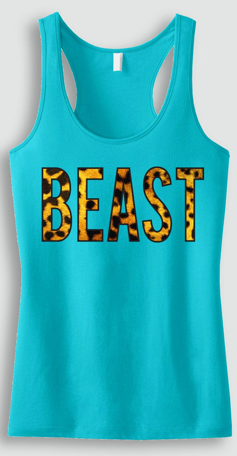 LAST CHANCE SALE!!! BEAST Leopard Workout Tank Top