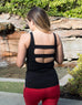 Essential Black Tank Top with built in Bra & Pocket