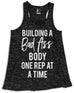 Building a Bad As* Body Tank Top Black Marble