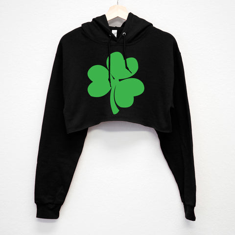 SHAMROCK St. Patrick's Day Cropped Hoodie