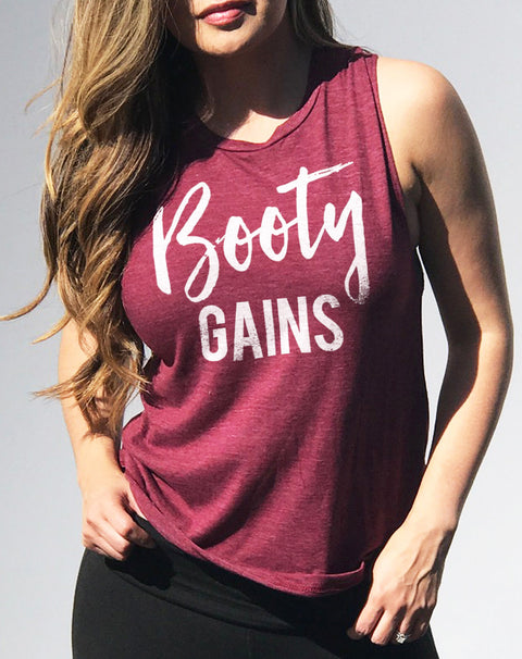 Booty Gains Women's Muscle Tank