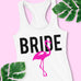 Bride Flamingo Tank Top - Pick Style