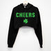 CHEERS St. Patrick's Day Cropped Hoodie