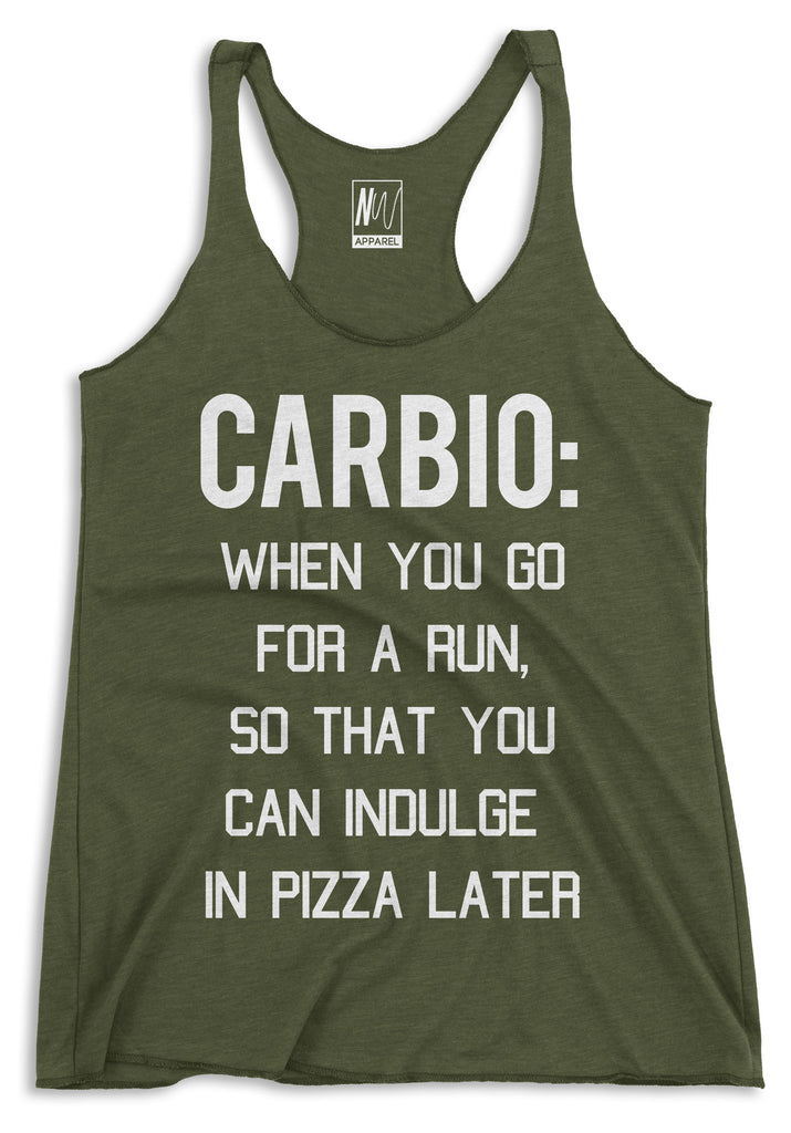 CARBIO Tank Top Racerback Military Green