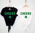 CHEERS St Patrick's Day Shirt Crop Top
