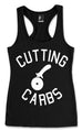 Cutting Carbs Tank Top Black Racerback