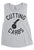 CUTTING CARBS Muscle Tank Top Heather Gray