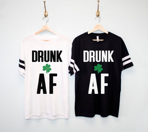 DRUNK AF Men's St. Patrick's Day Shirt, St. Paddy's Day Shirt
