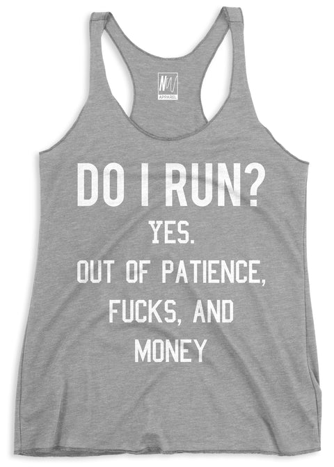 Do I Run? Gray Tank Top