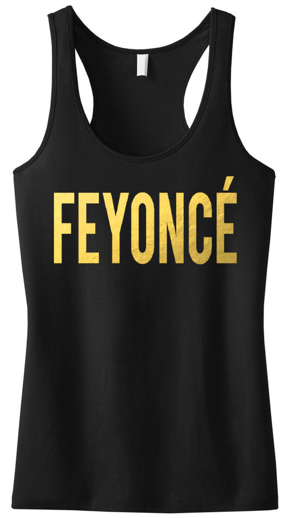 FIANCE Tank Top with Gold Print