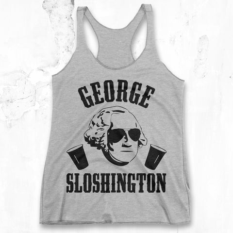 George Sloshington - Gray Tank Top