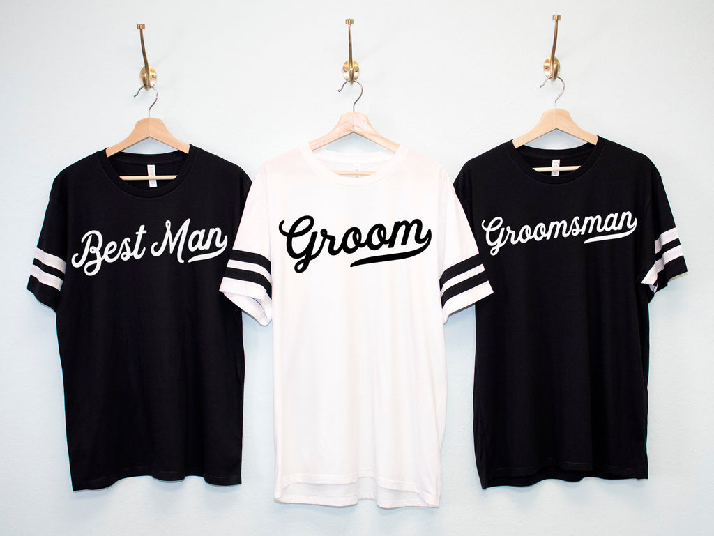 GROOM & GROOMSMEN Shirts jersey style for Bachelor Party and Wedding
