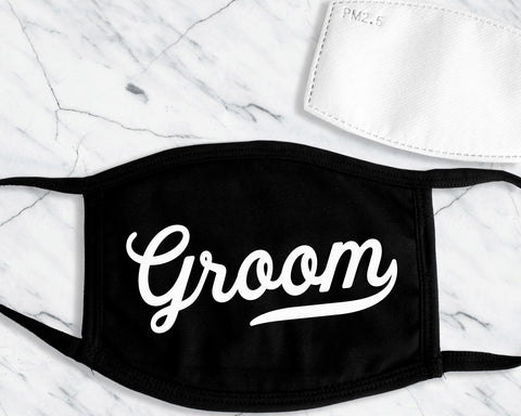 GROOM & GROOMSMEN Face Masks with Filter Pocket and 1 Filter