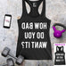 HOW BAD DO YOU WANT IT? (Reads in Mirror Image) Black Workout Tank Top