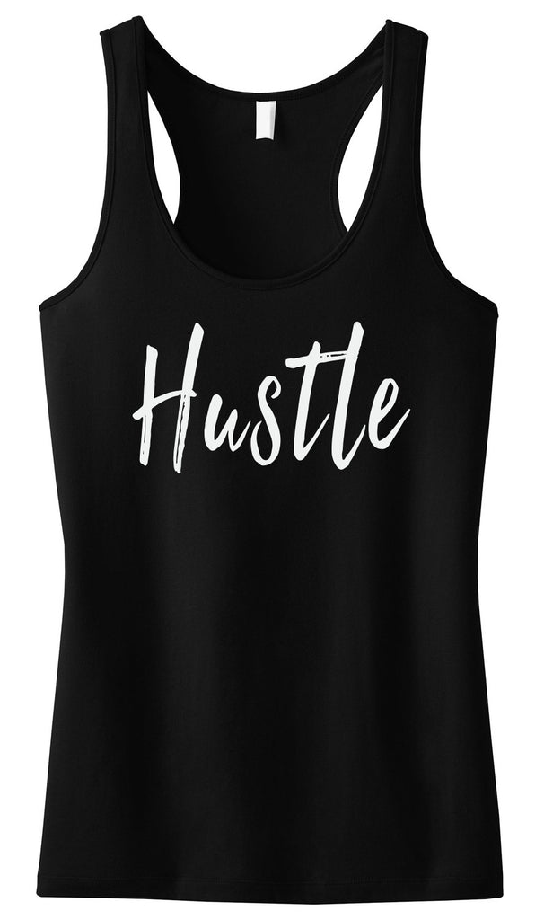 HUSTLE Tank Top Black