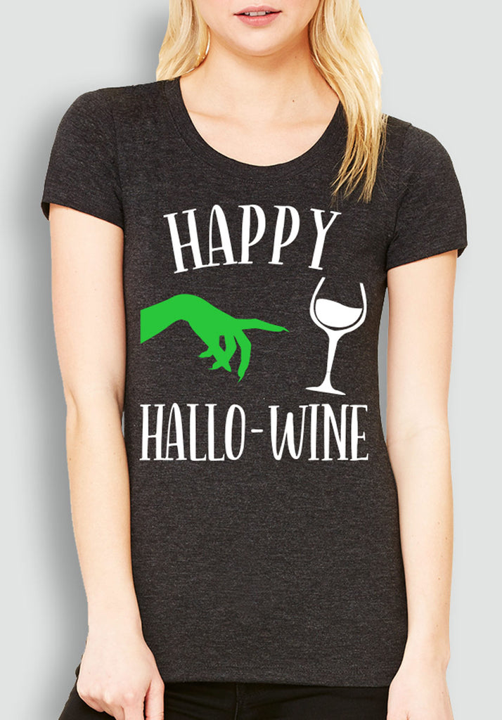 Happy HalloWine Witch Short Sleeve Tee - Pick Color