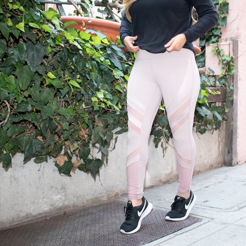 High Waist Iced Latte Leggings