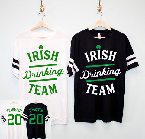 IRISH DRINKING TEAM St. Patrick's Day Men's Shirt - 6 Names to Pick