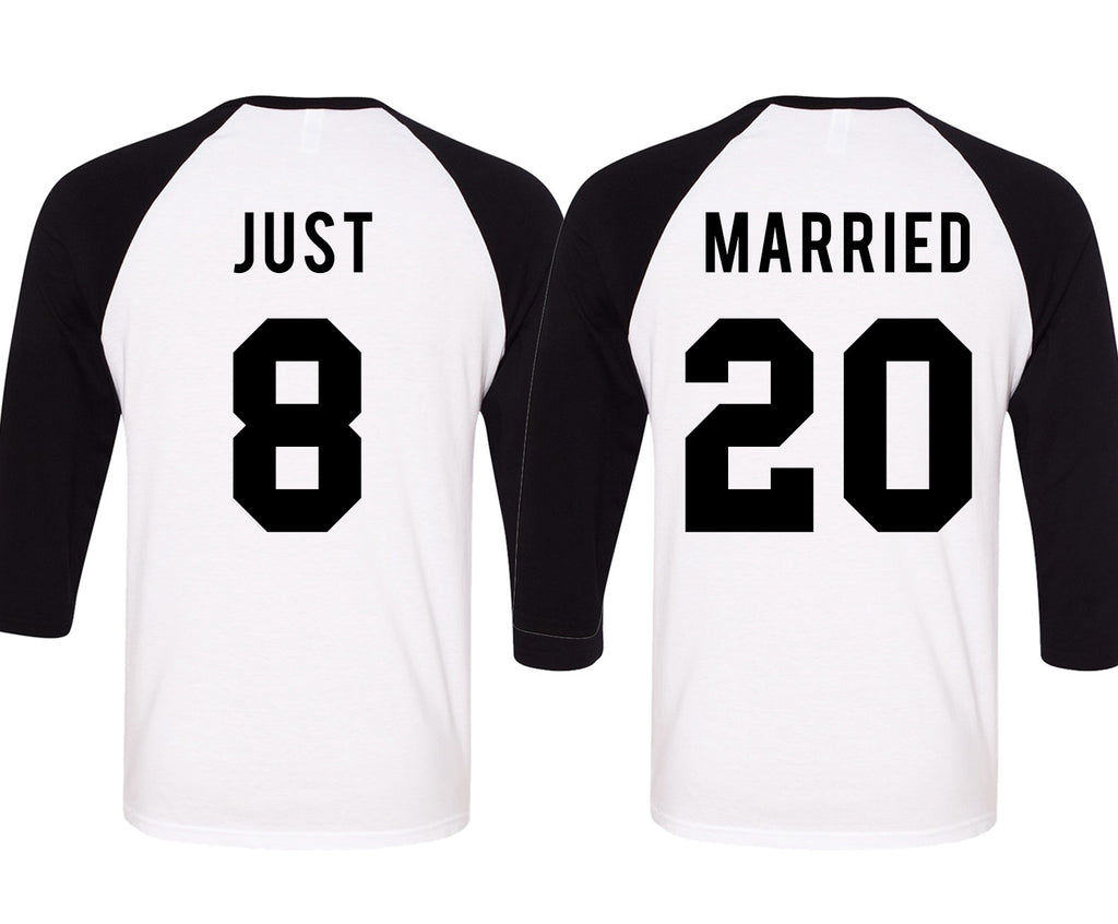 JUST MARRIED Baseball Tees Set