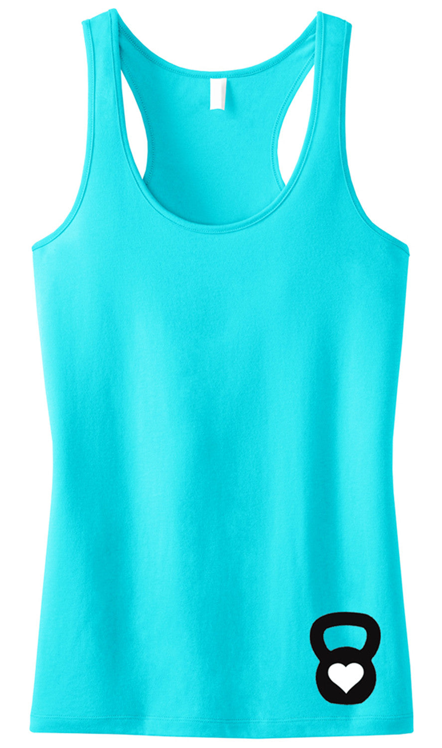 Kettle Belle Workout Tank Top Mini Logo, Pick Color