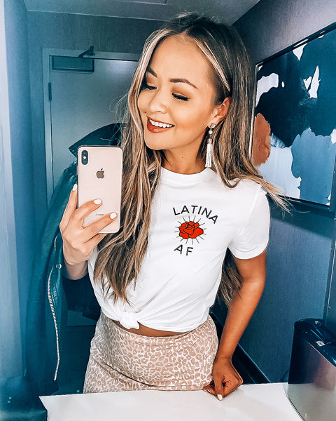 LATINA AF Crop Tops with Front Tie