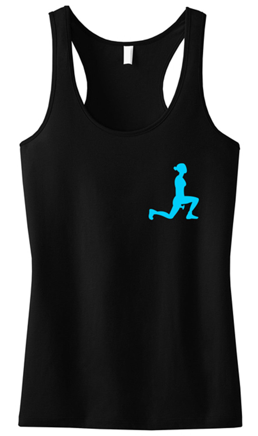 LEG DAY LUNGES Workout Tank Top Mini Logo, Black