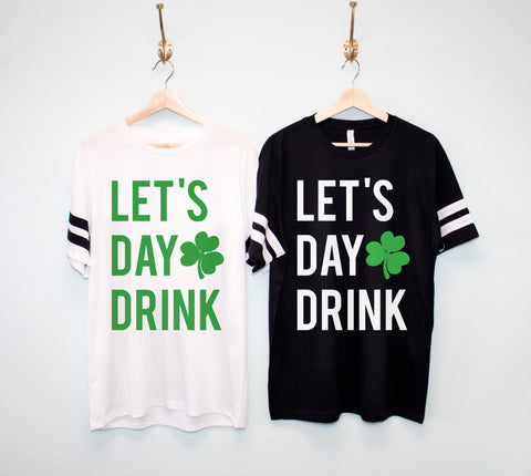 LET'S DAY DRINK Men's St Patrick's Day Shirt