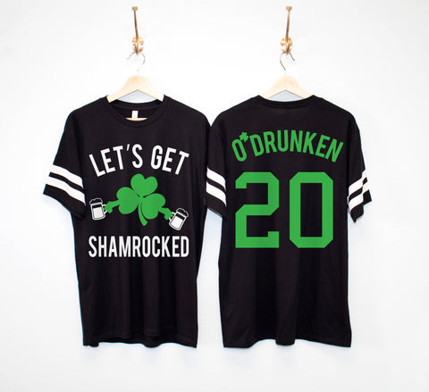 LET'S GET SHAMROCKED Custom Men's St. Patrick's Day Shirt