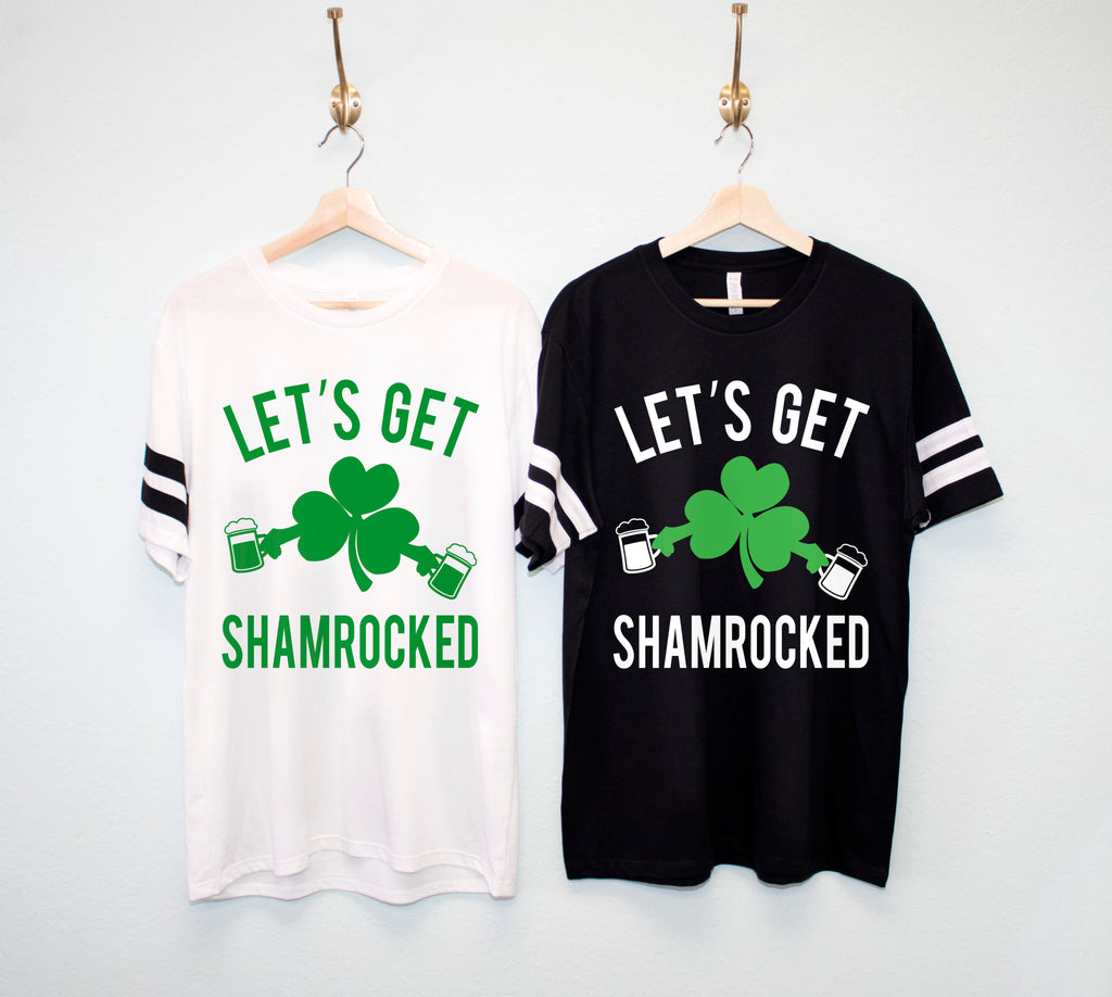 LET'S GET SHAMROCKED Men's St. Patrick's Day Shirt