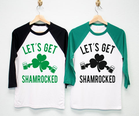 LET'S GET SHAMROCKED Tee St. Patrick's Day Shirt Unisex