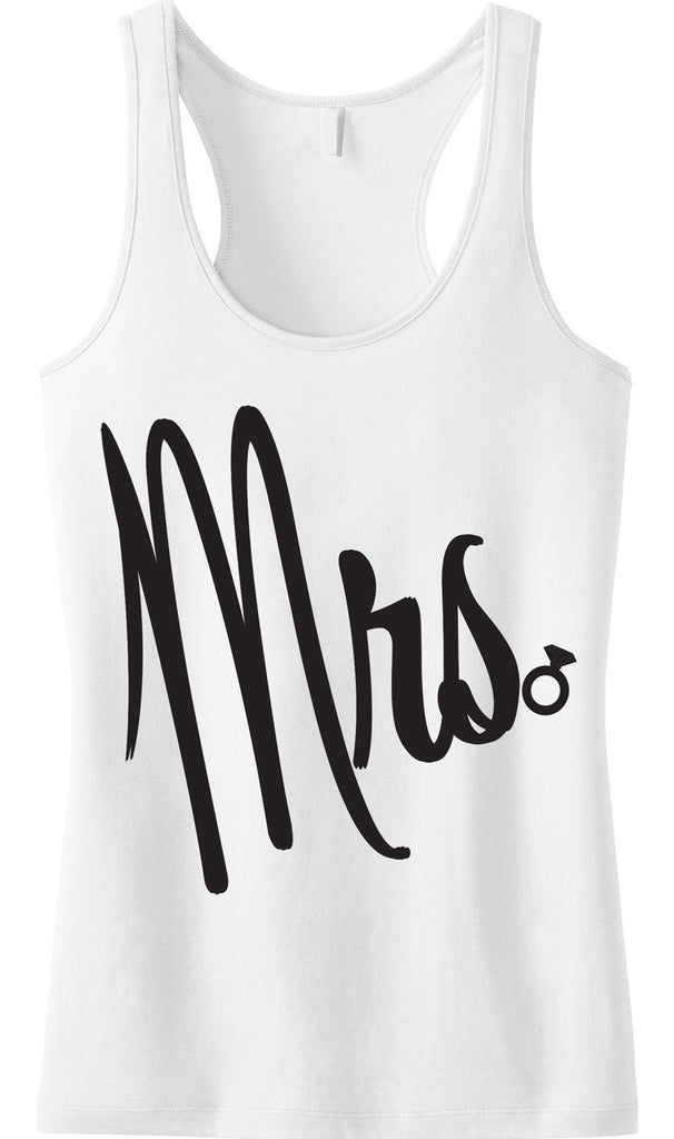 MRS Bride Tank Top with Cursive Print