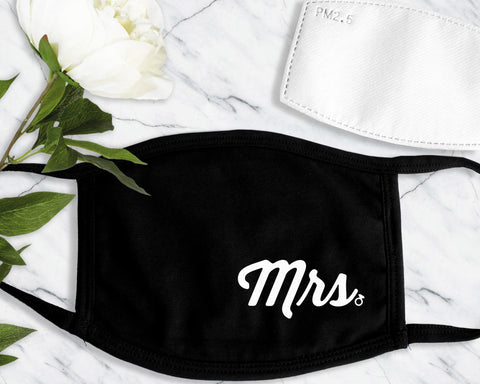 MR & MRS Face Masks with Filter Pocket and 1 Filter