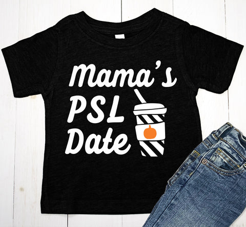 Mama's PSL Date Halloween Baby Boy or Toddler T-Shirt