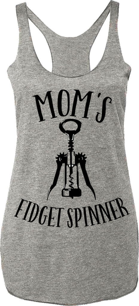 Mom's Fidget Spinner Gray Tank Top