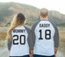 MOMMY + DADDY Baseball Tees CUSTOM Numbers Set