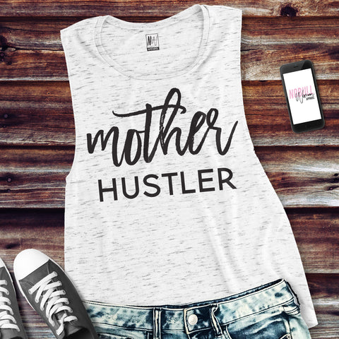 MOTHER HUSTLER Muscle Tank Top Pick Color