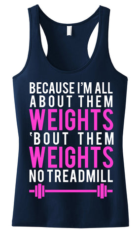 All About Them Weights Navy with Pink Tank