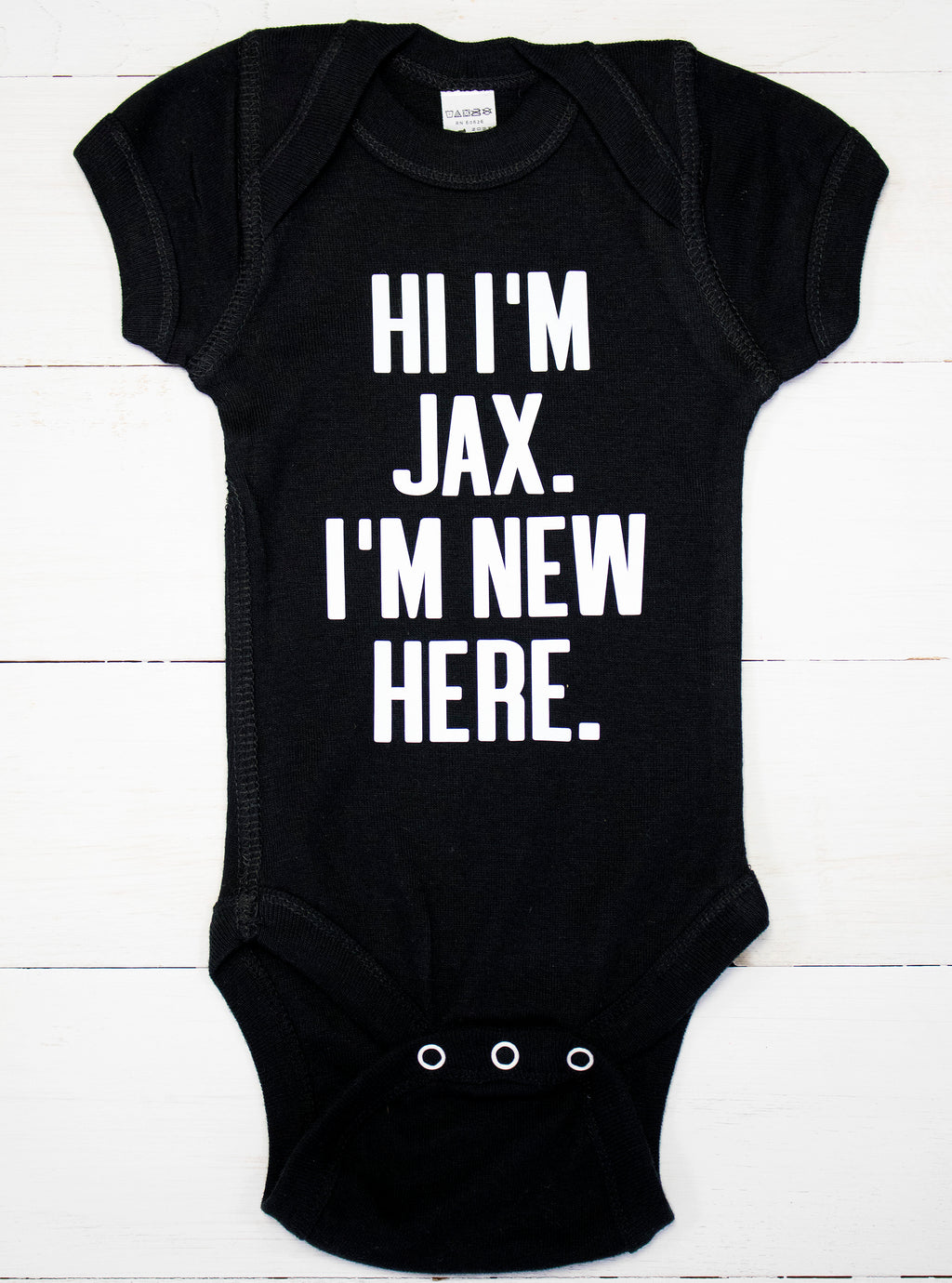 I'm New Here Custom Name Baby Bodysuit